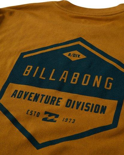 3 Badge T-Shirt Yellow M414VBBE Billabong