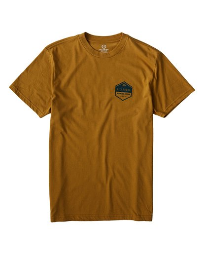 0 Badge T-Shirt Yellow M414VBBE Billabong