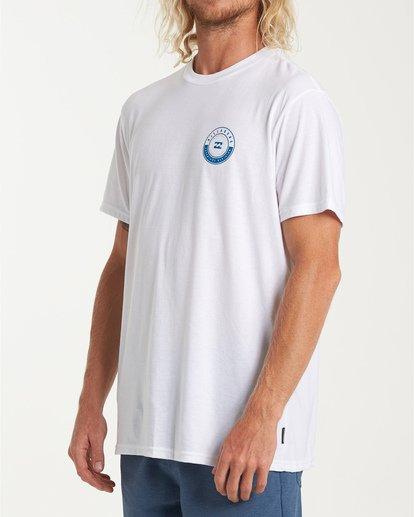 1 Rotor Short Sleeve T-Shirt White M414WBRR Billabong