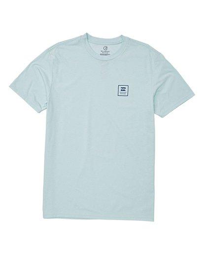 3 Stacked Short Sleeve T-Shirt Blue M414WBSD Billabong