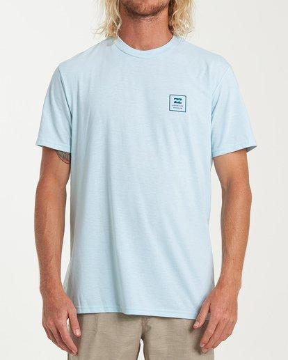 0 Stacked Short Sleeve T-Shirt Blue M414WBSD Billabong