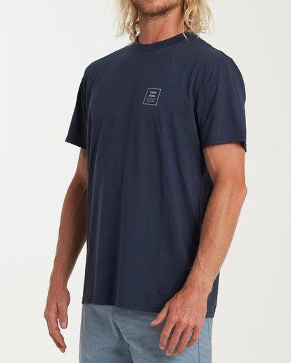 1 Stacked Short Sleeve T-Shirt Blue M414WBSD Billabong