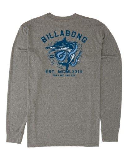 4 Assault Long Sleeve T-Shirt Grey M4151BAS Billabong