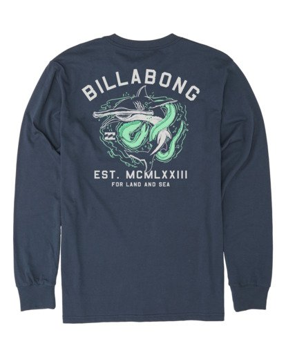 4 Assault Long Sleeve T-Shirt Blue M4151BAS Billabong
