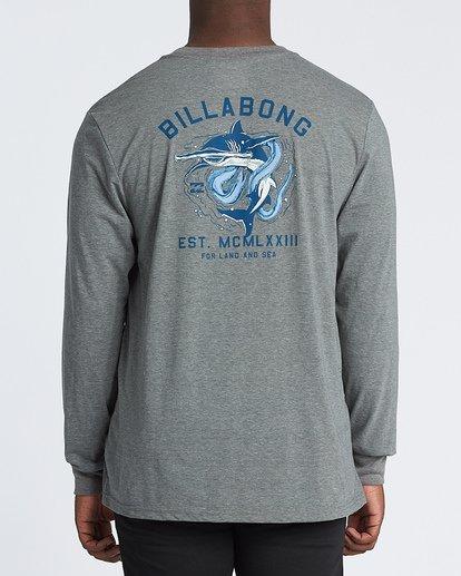 2 Assault Long Sleeve T-Shirt Grey M4151BAS Billabong