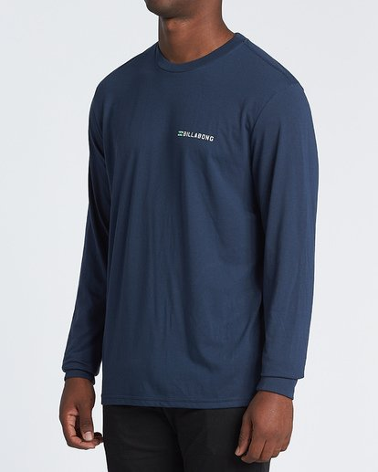1 Assault Long Sleeve T-Shirt Blue M4151BAS Billabong