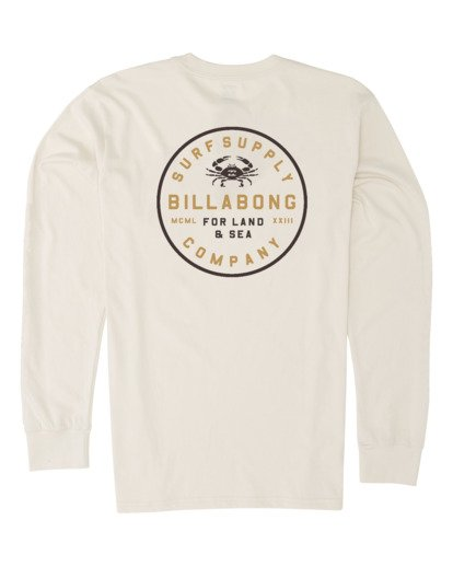 4 Claws Long Sleeve T-Shirt Brown M4151BCL Billabong