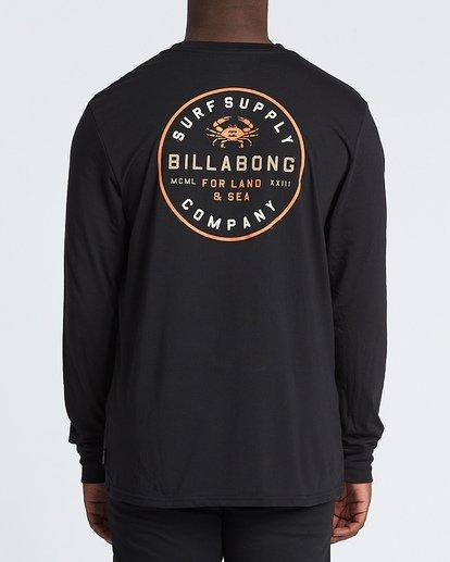 2 Claws Long Sleeve T-Shirt Black M4151BCL Billabong