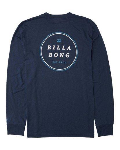 1 Rotor Long Sleeve T-Shirt Blue M4153BRO Billabong