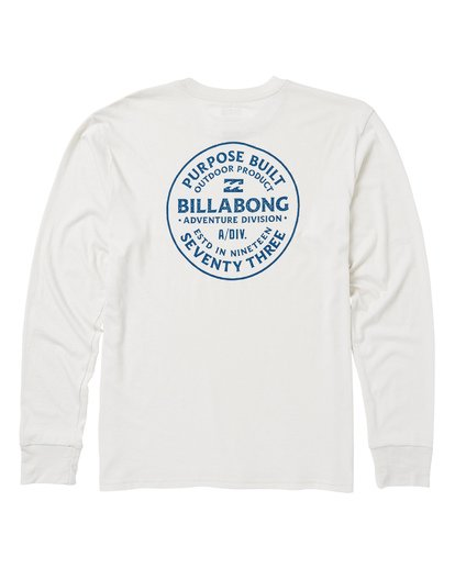 1 Emblem Performance Long Sleeve T-Shirt White M415SBEM Billabong