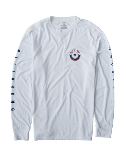 0 Rotor Long Sleeve T-Shirt White M415VBRR Billabong