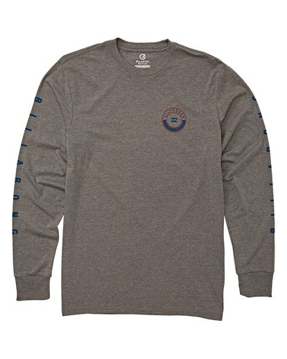 3 Rotor Long Sleeve T-Shirt Grey M415WBRR Billabong