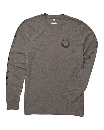 4 Rotor Long Sleeve T-Shirt Grey M415WBRR Billabong