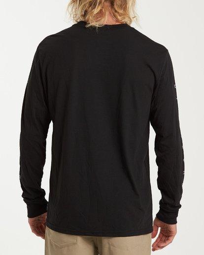2 Rotor Long Sleeve T-Shirt Black M415WBRR Billabong