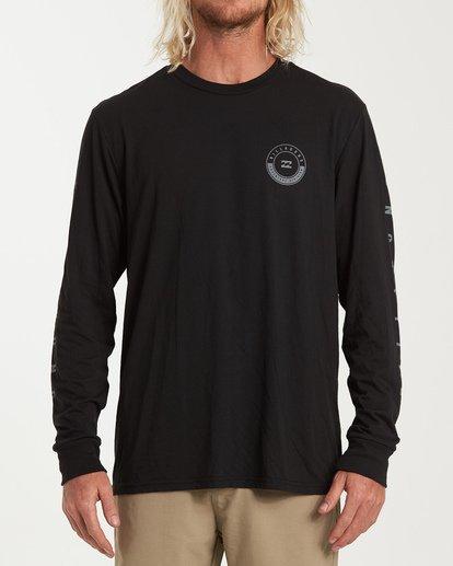 0 Rotor Long Sleeve T-Shirt Black M415WBRR Billabong