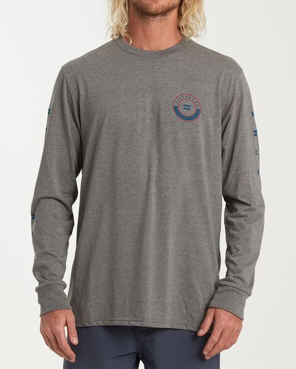 0 Rotor Long Sleeve T-Shirt Grey M415WBRR Billabong