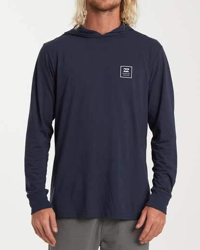 0 Stacked Long Sleeve T-Shirt Blue M416WBSD Billabong