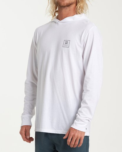 1 Stacked Long Sleeve T-Shirt White M416WBSD Billabong