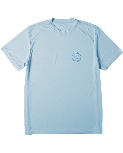 3 Drown UV Surf Short Sleeve T-Shirt Blue M4172BDR Billabong