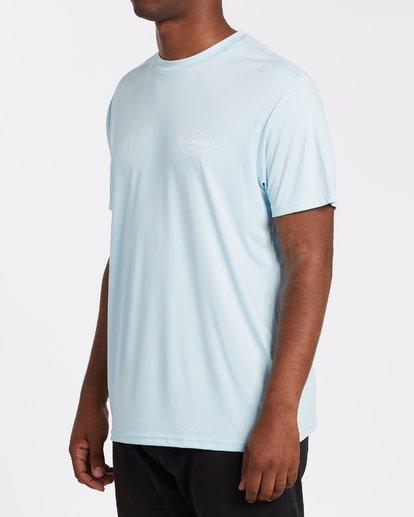 1 Surf Supply UV Short Sleeve Surf Shirt Blue M4172BSS Billabong