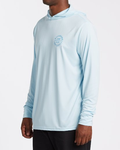 1 Drown Hooded Long Sleeve Uv Surf Tee Blue M4192BDR Billabong
