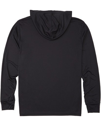 1 United Stacked Hooded Long Sleeve UV T-Shirt Black M4193BUS Billabong