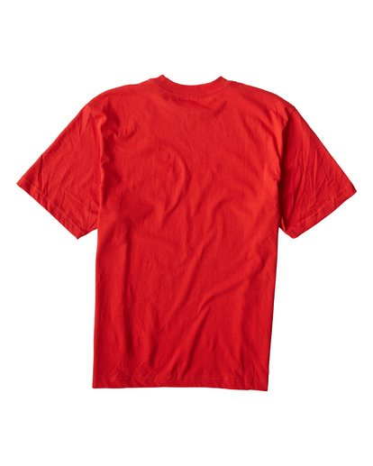 1 Triad Short Sleeve T-Shirt Red M421VBTD Billabong