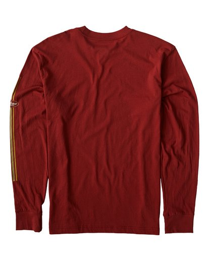 1 97 Stripe Long Sleeve T-Shirt Red M422VBPI Billabong