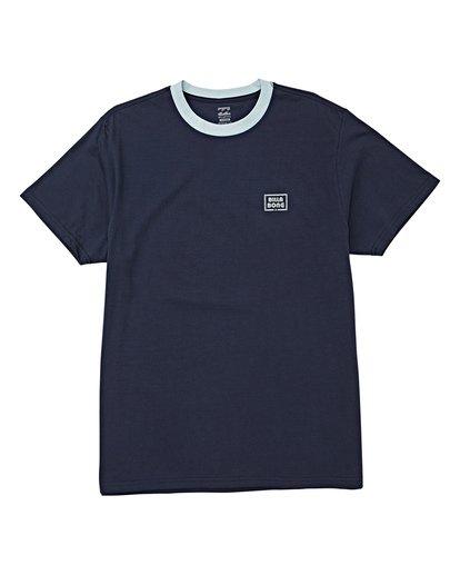 3 Station Short Sleeve T-Shirt Blue M423WBST Billabong