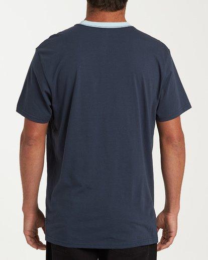 2 Station Short Sleeve T-Shirt Blue M423WBST Billabong