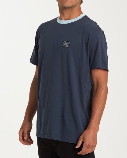 1 Station Short Sleeve T-Shirt Blue M423WBST Billabong
