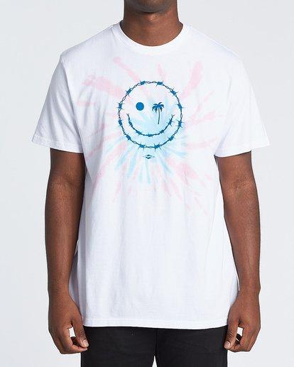 0 Barb Tie-Dye Short Sleeve T-Shirt White M4251BBB Billabong