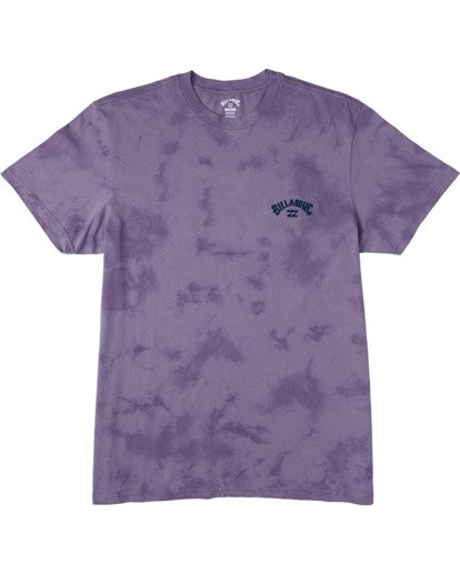 3 Arch Wave Tie Dye T-Shirt Purple M4253BAT Billabong
