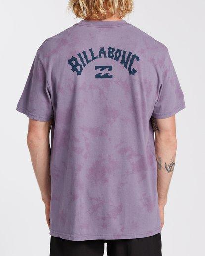 2 Arch Wave Tie Dye T-Shirt Purple M4253BAT Billabong