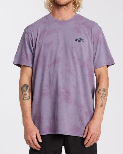 0 Arch Wave Tie Dye T-Shirt Purple M4253BAT Billabong