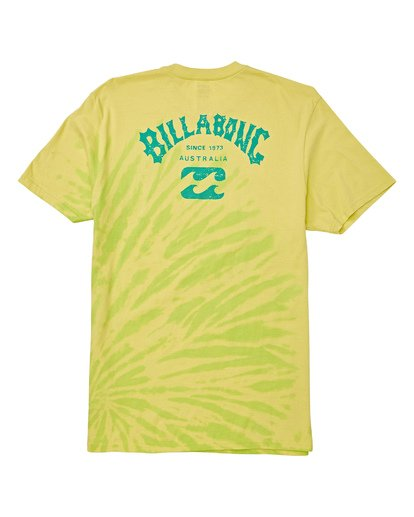 4 Arch Tie-Dye Short Sleeve T-Shirt Green M425WBAD Billabong