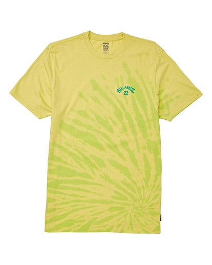3 Arch Tie-Dye Short Sleeve T-Shirt Green M425WBAD Billabong