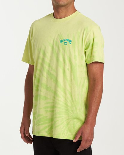 1 Arch Tie-Dye Short Sleeve T-Shirt Green M425WBAD Billabong