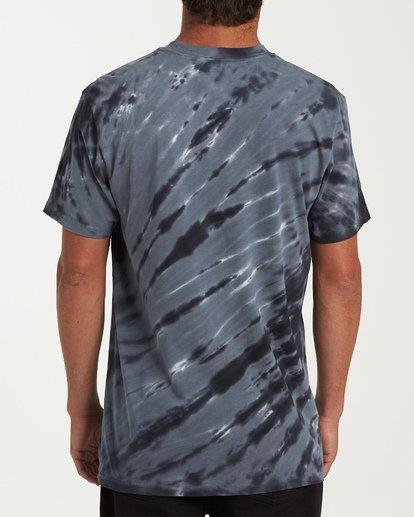 2 Yang Tie-Dye Short Sleeve T-Shirt Black M425WBYT Billabong