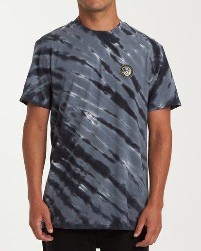 0 Yang Tie-Dye Short Sleeve T-Shirt Black M425WBYT Billabong