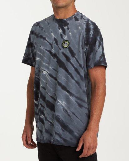 1 Yang Tie-Dye Short Sleeve T-Shirt Black M425WBYT Billabong