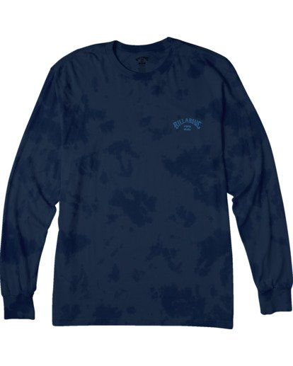 3 Arch Wave Tie Dye Long Sleeve  T-Shirt Blue M4263BAW Billabong
