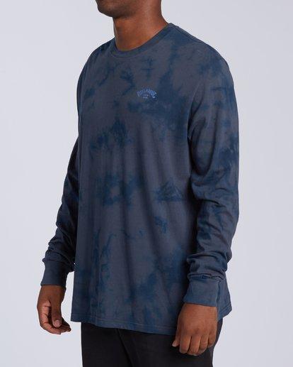 1 Arch Wave Tie Dye Long Sleeve  T-Shirt Blue M4263BAW Billabong