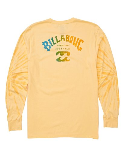 4 Arch Tie-Dye Long Sleeve T-Shirt Yellow M426WBAT Billabong
