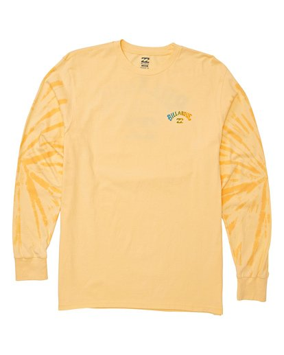 3 Arch Tie-Dye Long Sleeve T-Shirt Yellow M426WBAT Billabong