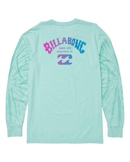 4 Arch Tie-Dye Long Sleeve T-Shirt Blue M426WBAT Billabong