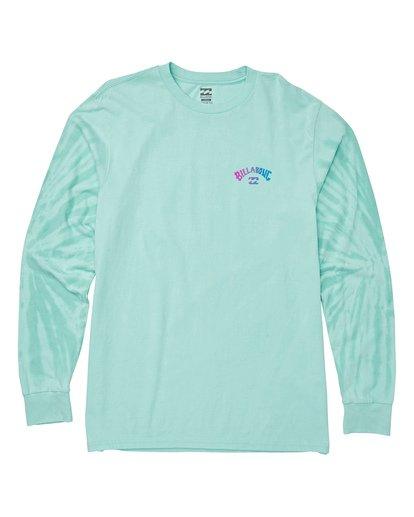 3 Arch Tie-Dye Long Sleeve T-Shirt Blue M426WBAT Billabong