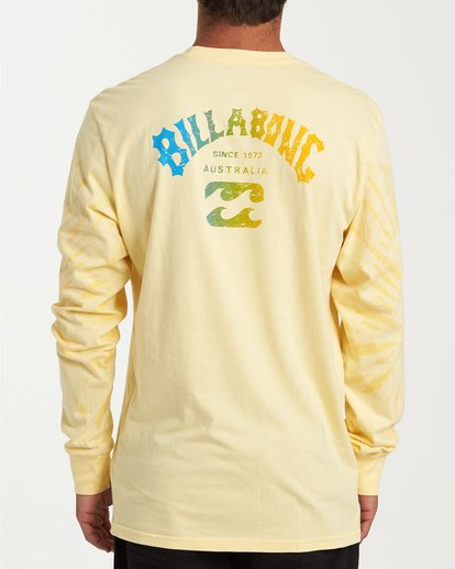 2 Arch Tie-Dye Long Sleeve T-Shirt Yellow M426WBAT Billabong