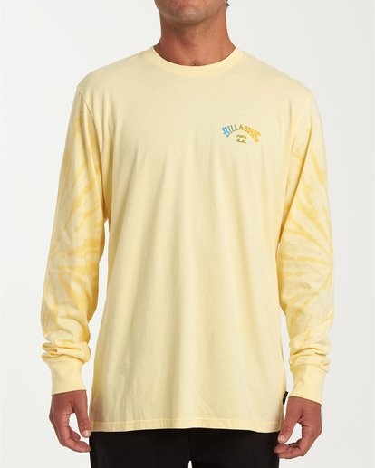 0 Arch Tie-Dye Long Sleeve T-Shirt Yellow M426WBAT Billabong