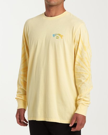 1 Arch Tie-Dye Long Sleeve T-Shirt Yellow M426WBAT Billabong
